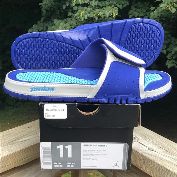 e88eeec13 Jordan Hydro 2 Sandals   Slides Size 11 Blue New!